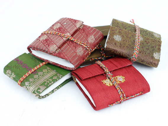 View our  5 Mini Sari Journals from the  Silky Sari Journals collection