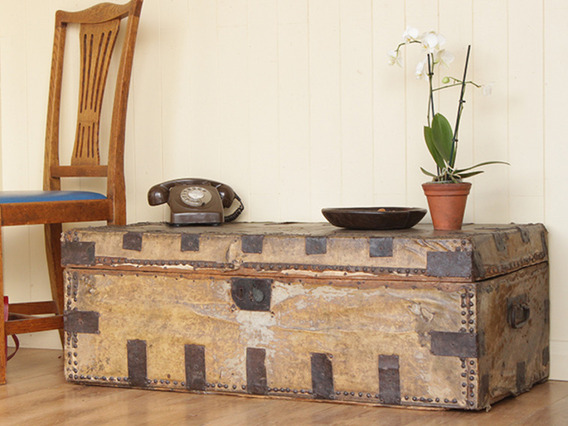 View our  Antique 19th Century Travel Trunk from the   collection
