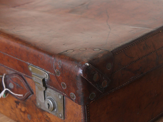 Antique Leather Suitcase TLNM45224 C