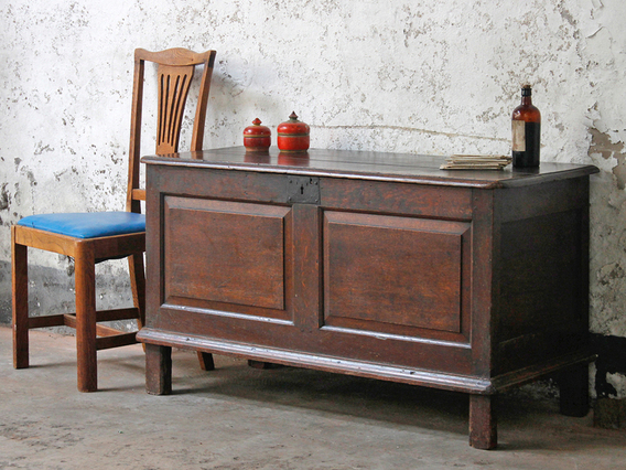 View our  Antique Oak Coffer from the  Blanket Box collection