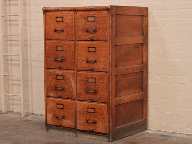 Antique Oak Filing Cabinets By Wabash Company (sold as pair) - Antique Oak Filing Cabinets By Wabash Company (sold As Pair) - Sold