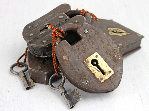 View our  Antique Padlock - Extra Large Iron from the   collection