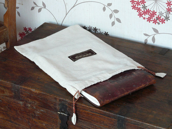 View our  Beige Cotton Presentation Bag Large from the  Silky Sari Journals collection