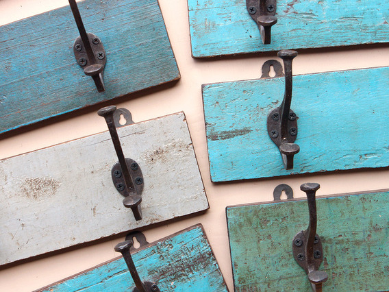 View our  Blue Coat Hook Rack With 2 Hooks from the   collection