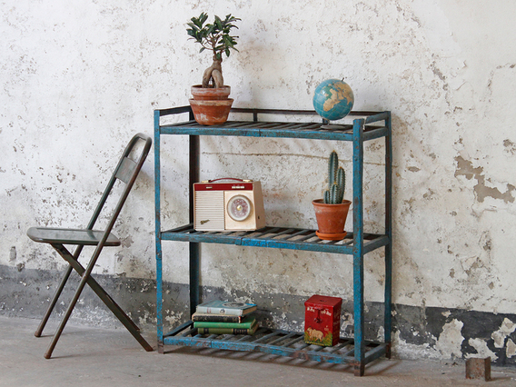 View our  Blue Metal Shelving from the   collection