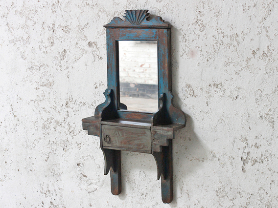 View our  Blue Vintage Mirror from the  Wooden Mirrors collection