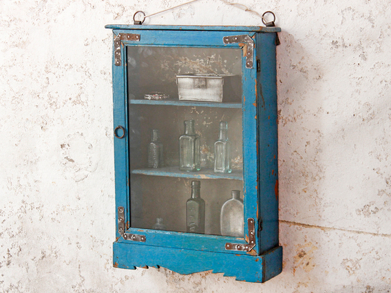 Blue Wall Cabinet