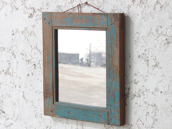 Blue Wall Mirror