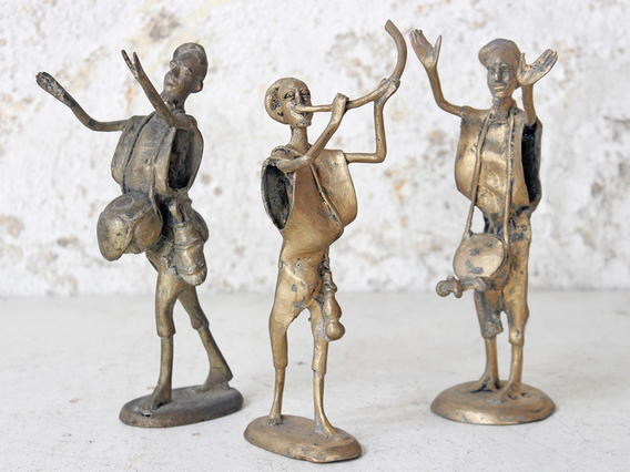 View our  Bronze African Statue - Small Musician from the  Kitchen  collection