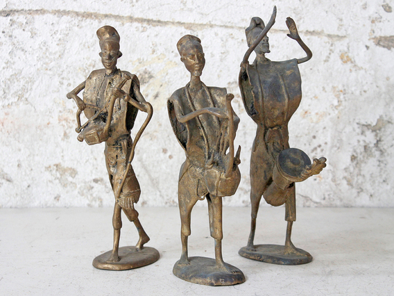 View our  Bronze West African Musician Statue from the  SALE collection