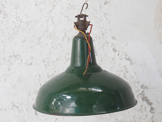 View our  Vintage Industrial Enamel Light Shade Pendant from the  Vintage & Retro Lighting collection
