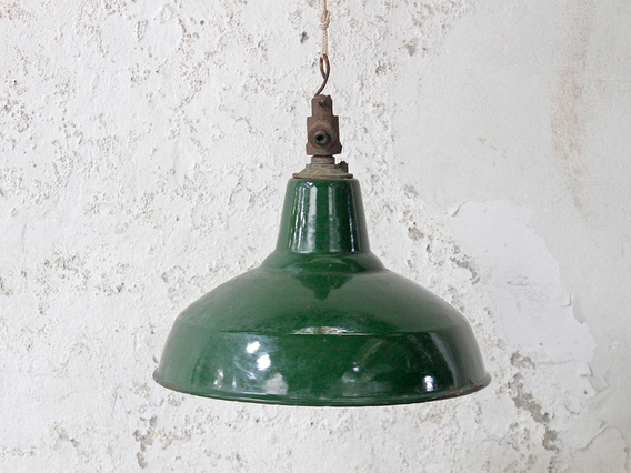 View our  Large Vintage Enamel Pendant Lamp Shade from the  Vintage & Retro Lighting collection