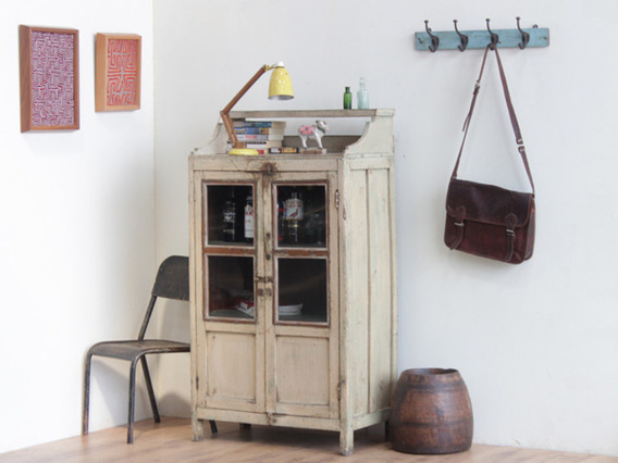 View our  Cream Distressed Vintage Cabinet CABS30222 from the  Vintage Cabinets & Cupboards collection