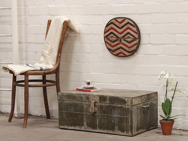View our  Distressed Coloured Metal Travel Suitcase from the   collection