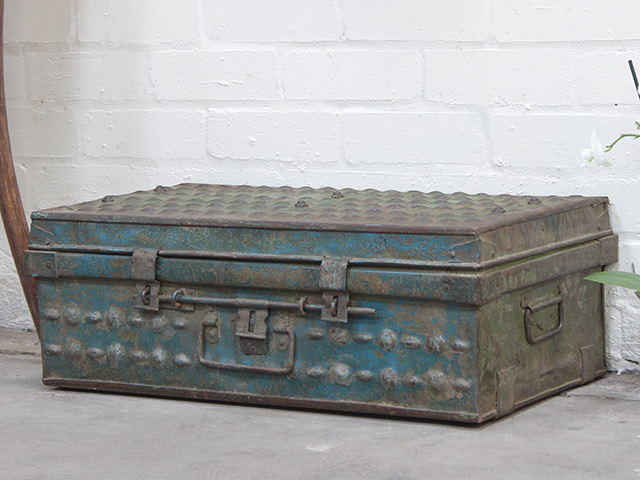 View our  Distressed Metal Travel Suitcase from the   collection