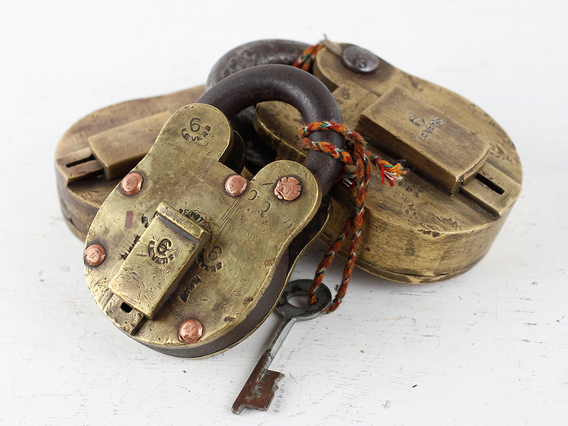 View our  Extra Large Old Brass Padlock from the   collection