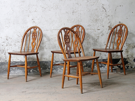 View our  Vintage Ercol Dining Chairs from the   collection