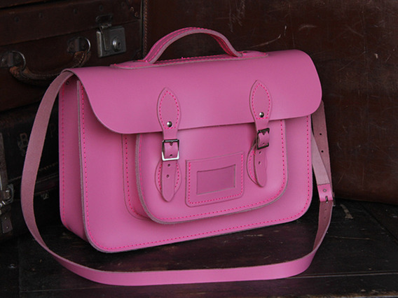 View our Junior Girls School Satchel 15 Inch With Handle from the Junior Leather Satchel Bags collection