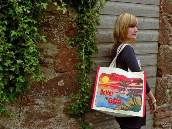 View our  Glorious Goa Canvas Bag long from the  Tote Bags collection