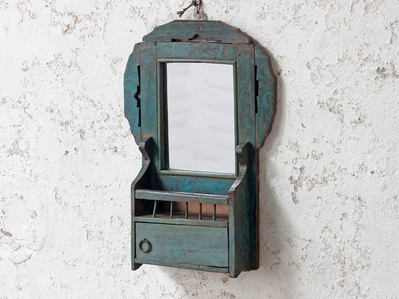 View our  Vintage Green Wall Mirror from the  Storage Chests collection