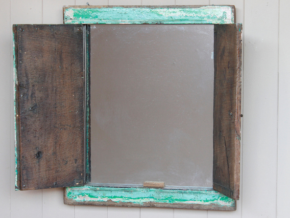 View our  Green Shuttered Mirror from the   collection
