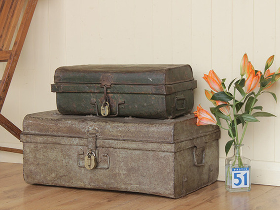 View our  Green Vintage Trunk from the  Old Travel Trunks collection