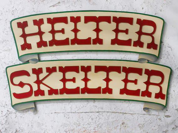 Helter Skelter Fairground Sign