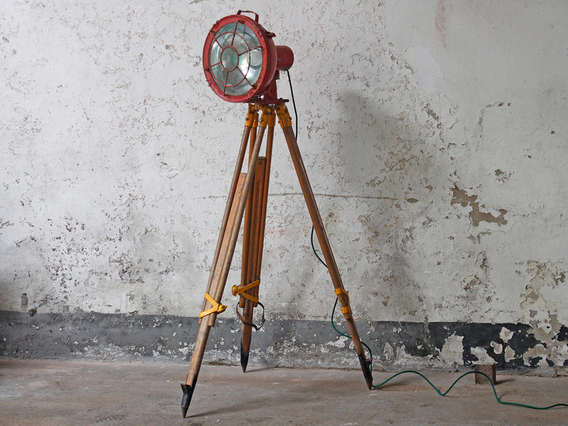 Industrial Upcycled Tripod Ship Light