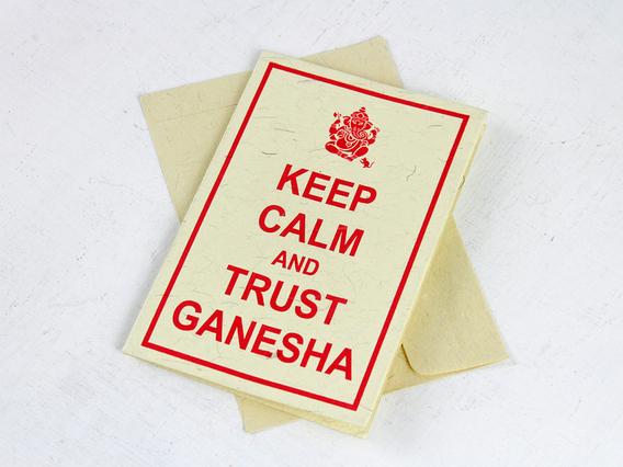 Keep Calm and Trust Ganesha Greeting Card