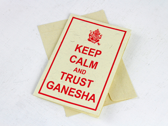 View our  Keep Calm and Trust Ganesha Greeting Card from the  Journals collection