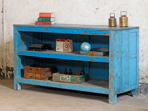 View our  Large Blue Vintage Shop Counter from the  Vintage Tables & Desks collection