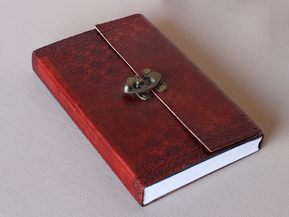 View our  Large Leather Lockable Journal With Lined Paper from the   collection