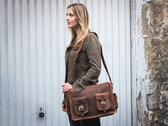 View our  Large Leather Vintage Flight Bag from the  Leather Satchels & Bags collection