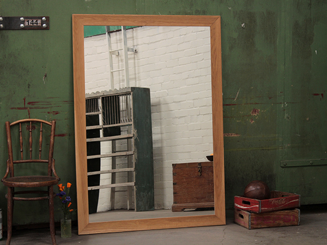 View our  Large Oak Wood Framed Mirror from the   collection