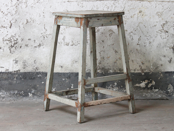 View our  Large Old Blue Rustic Stool from the  Old Chairs, Stools & Benches collection