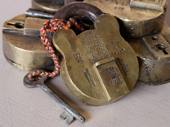 View our  Large Old Brass Padlock from the   collection
