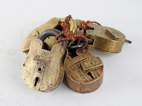 View our  Large Old Brass Padlock from the  Wedding Gifts & Decor collection