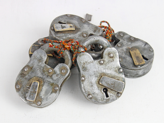 View our  Large Old Iron Padlock from the   collection