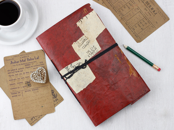 View our  Large Vintage Leather Journal from the   collection