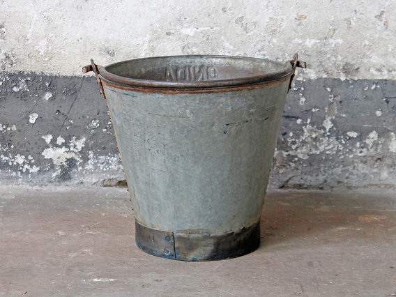 View our  Large Vintage Metal Bucket from the  Metal collection