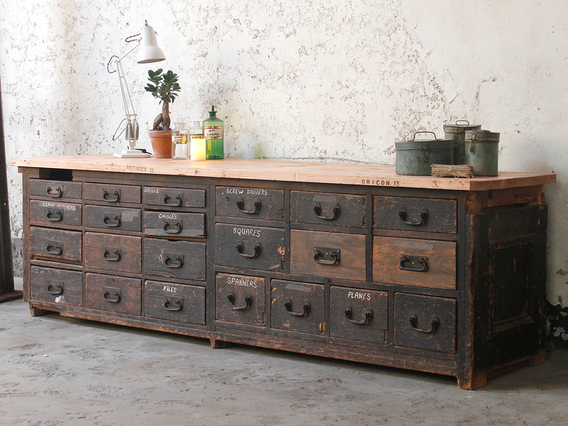 View our  Late Victorian Antique Workshop Cabinet from the   collection