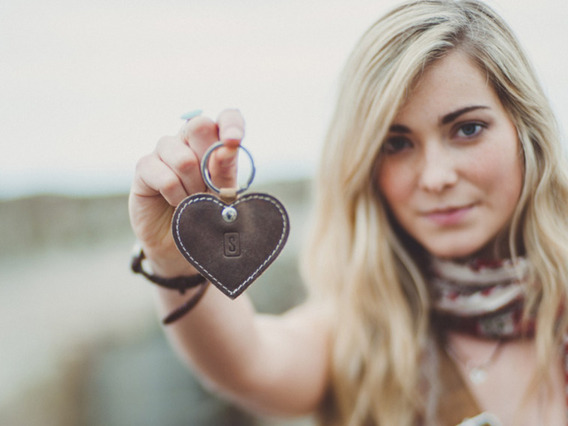 View our  Leather Heart Keyring from the   collection
