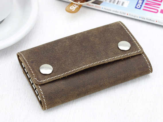Leather Keyring Case