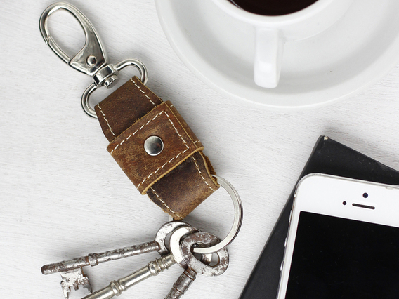 Leather Keyring Clip