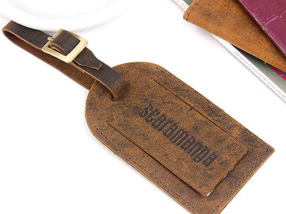 View our  Leather Luggage Tag With Buckle from the  Accessories collection