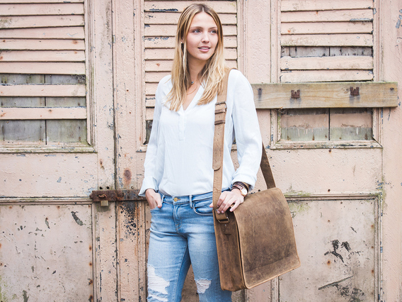 View our  Leather Messenger Bag Large 17 Inch from the  Leather Satchels & Bags collection