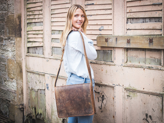 View our  Leather Messenger Bag Medium 15 Inch from the  Leather Satchels & Bags collection
