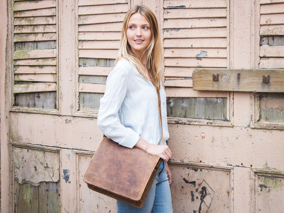 View our  Leather Messenger Bag Small 13 Inch from the  Leather Satchels & Bags collection