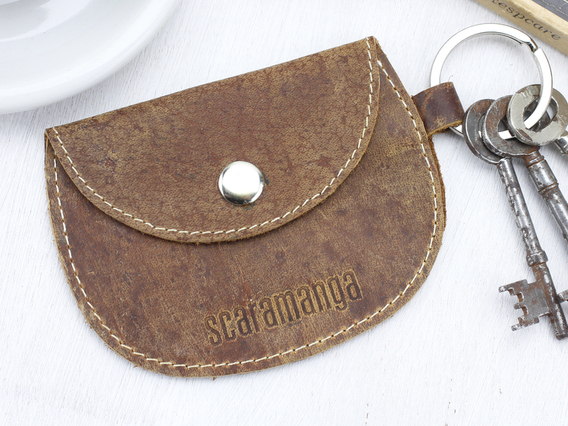 Leather Purse Keyring