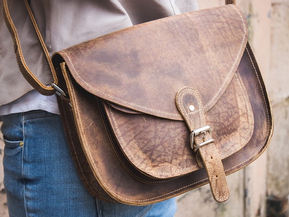 View our  Leather Saddle Bag 12 Inch from the  Satchels collection
